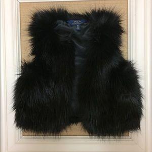 Ralph Lauren Polo girl's faux fur vest
